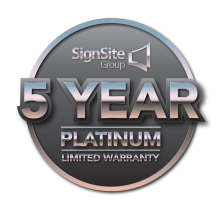 5 Year Platinum Limited Warranty