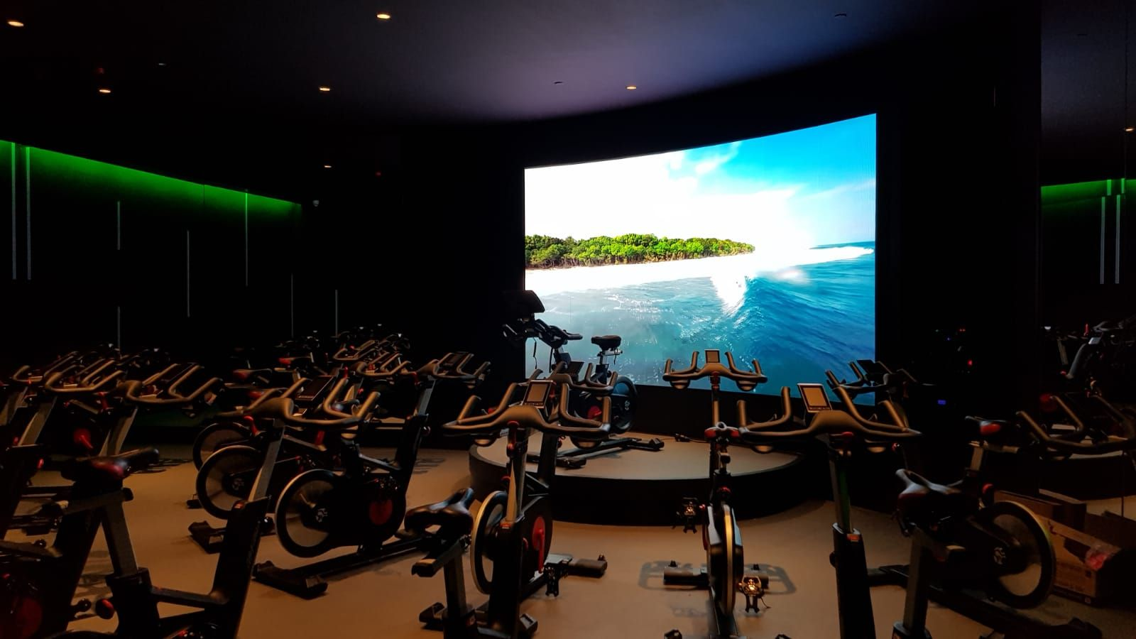 Indoor gym LED wall