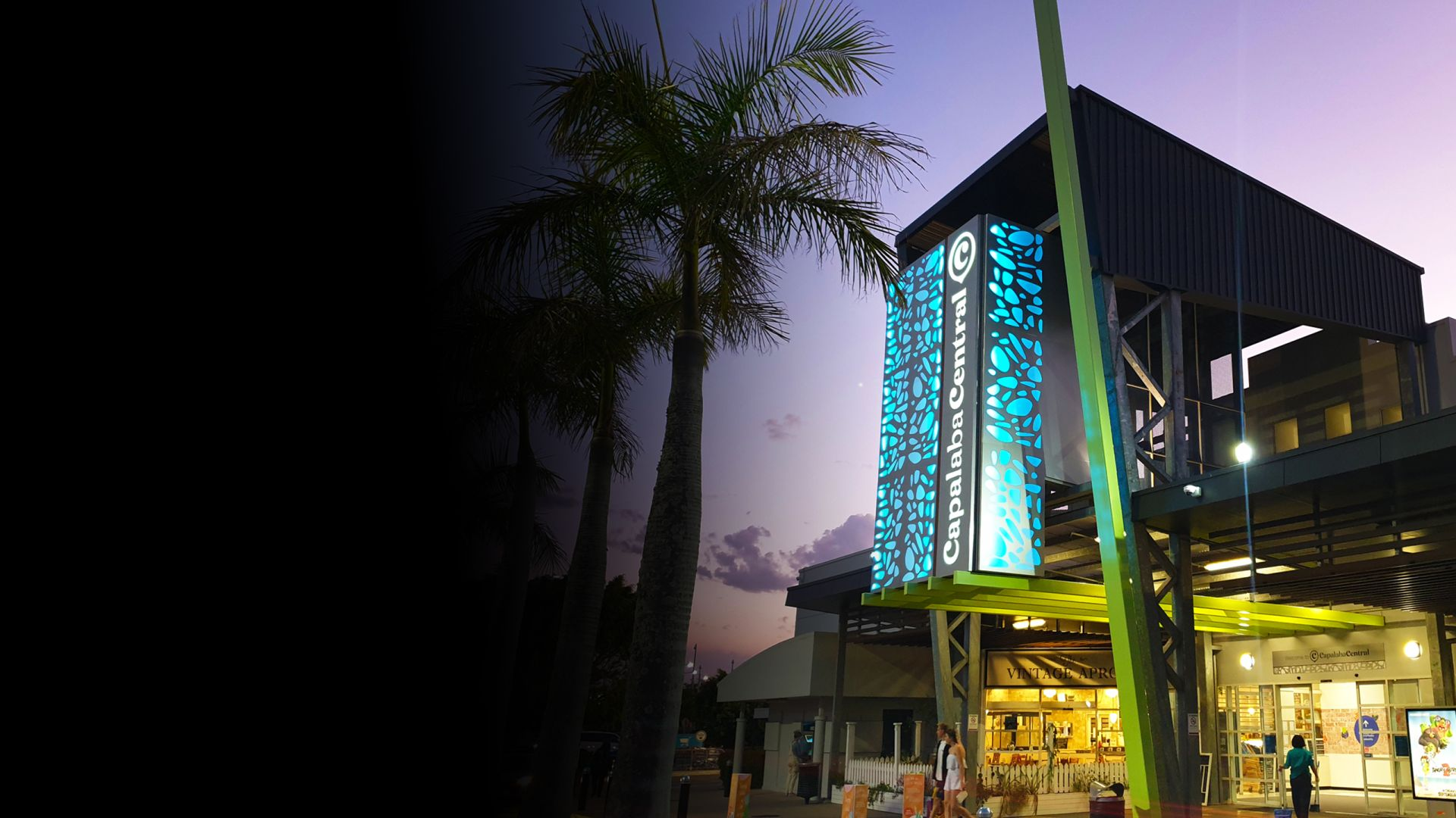 Capalaba Central Illuminated building signage RGB