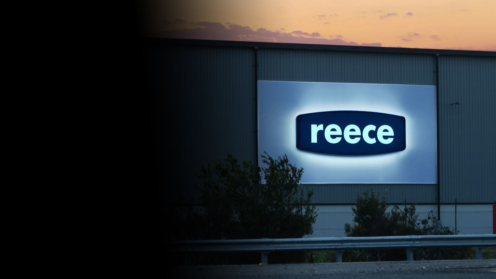 Reece illuminated building signage