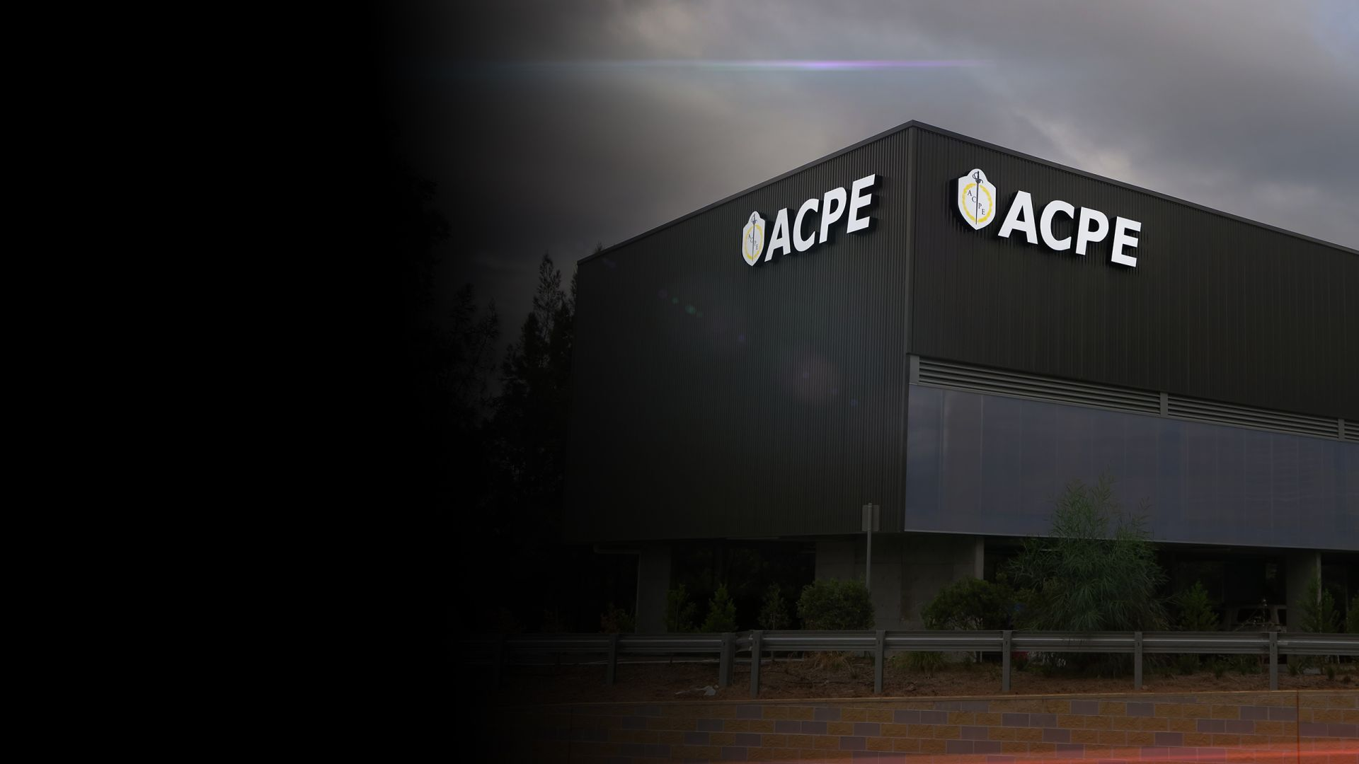 ACPE illuminated building signage